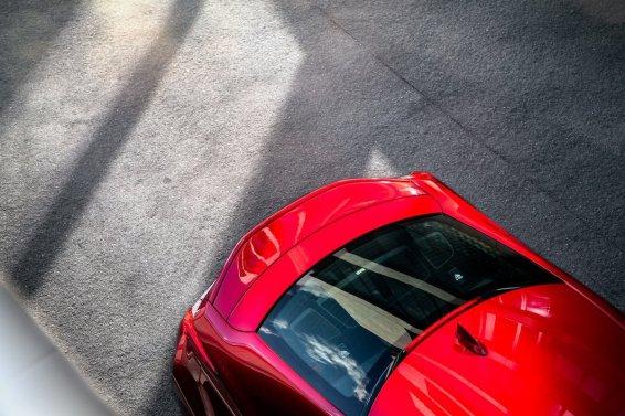 Lexus RC F Mark Levinson Soundsystem Heckspoiler ausfahrbar rot Rückleuchten Dach Licht Sonne