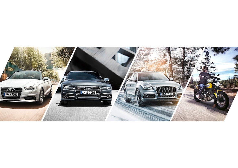 Audi select Fahrzeugleasing Mobilitätskonzept Ducati Auto Motorrad 3x Fahrzeugwechsel pro Jahr Audi RS6