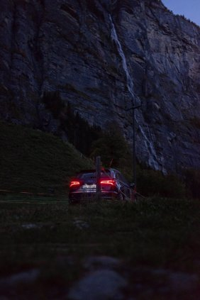 Audi SQ5 in Lauterbrunnen