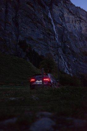 Audi SQ5 in Lauterbrunnen