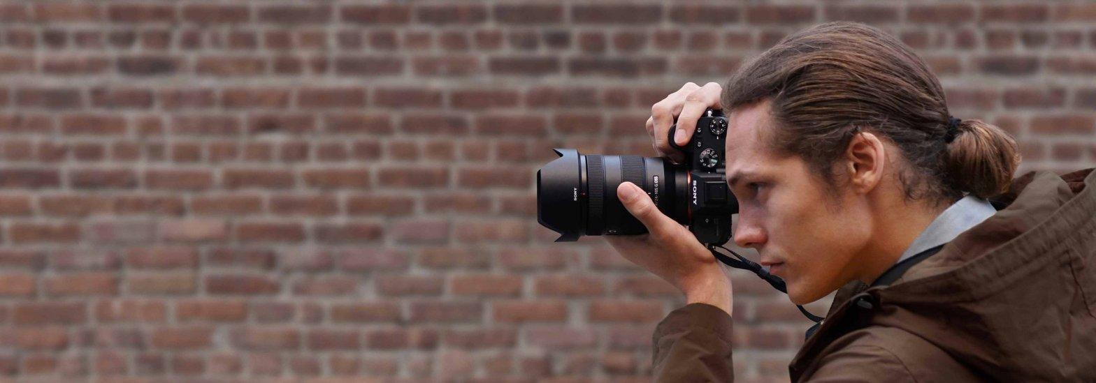 Fotograf Kamera Backstein Wand Sony A7 III