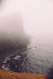 Kliff Schottland Wasser Meer Küste
