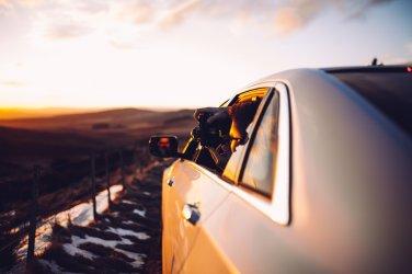 Sonnenuntergang Glen Livet Berg Kamera Auto