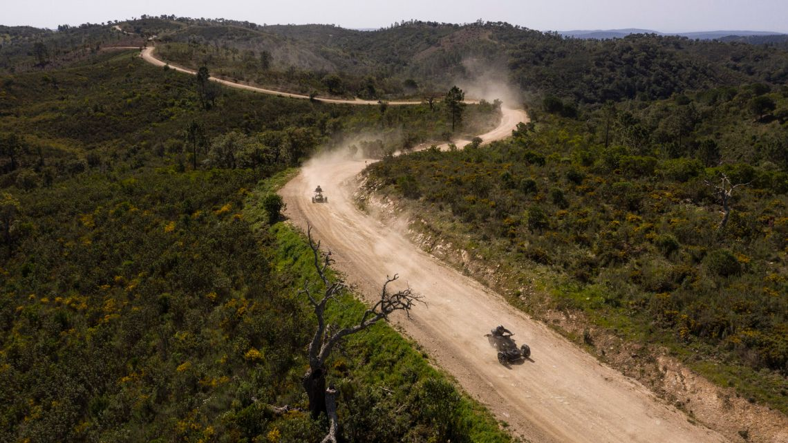 Three Can-Am Ryker driving Off-Road in Portugal