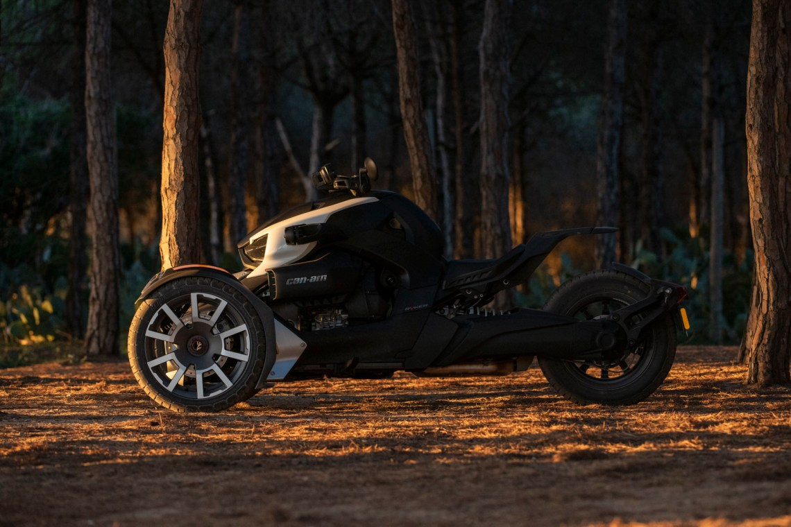 Can-Am Ryker Rally Edition in the woods