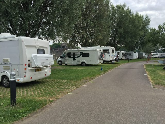 Almost all of group arrived at campsite in Koblenz