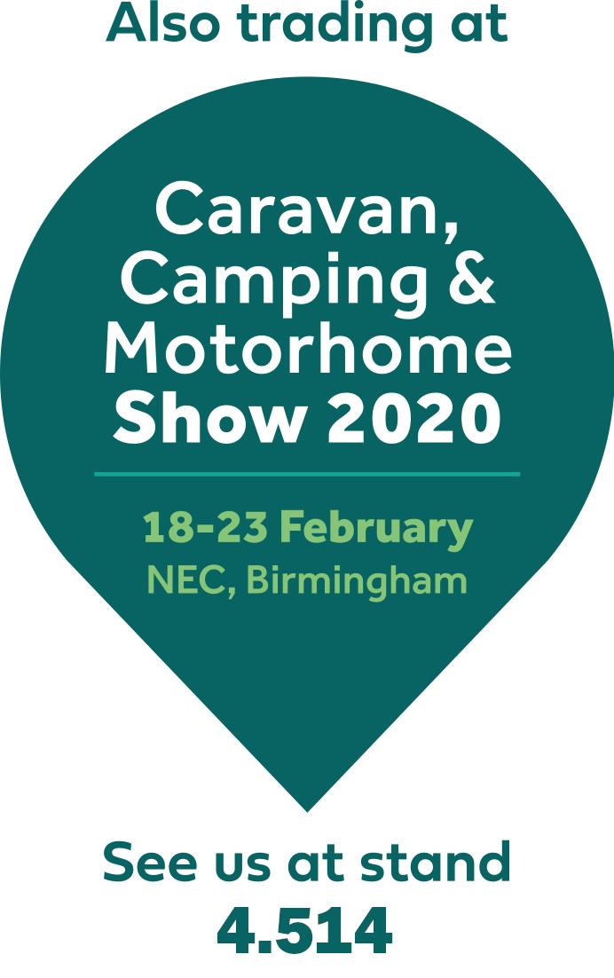 Logo Caravan, Camping & Motorhome Show 2020, 18-23 February NEC, Birmingham