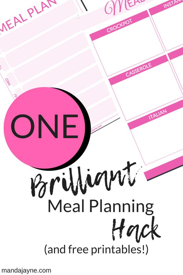 meal planning hack