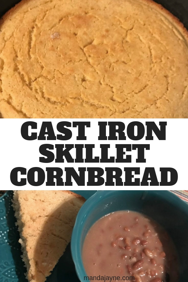 Cast Iron Skillet Cornbread