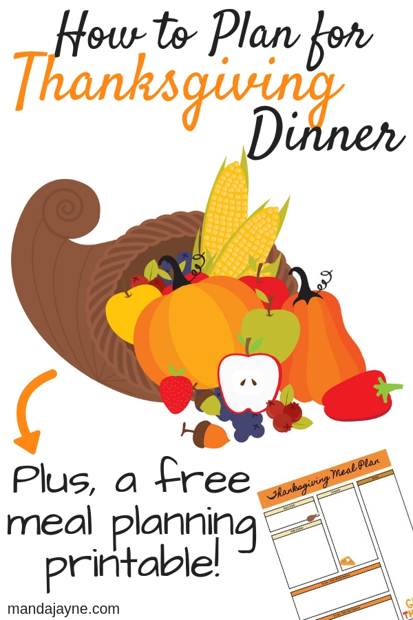 Plan for Thanksgiving Dinner