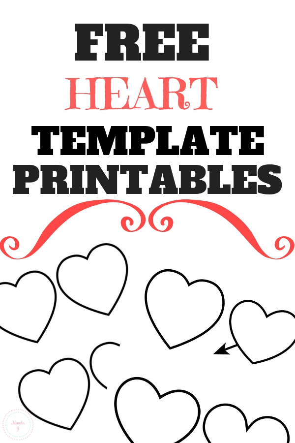 free heart templates you can print manda j