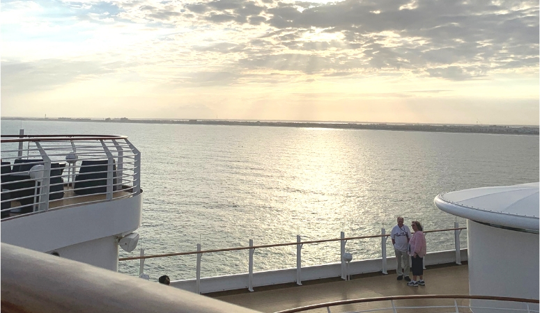 A gorgeous view from the adult only area of the Disney Dream as it sails away.