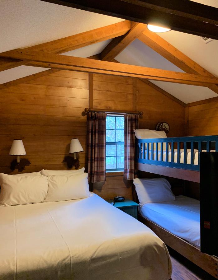 Bedroom in the Fort Wilderness Cabin.