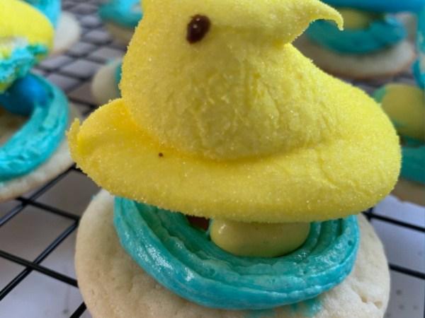 PEEP Nest Easter Cookies