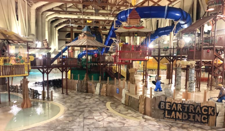 An overall view of Great Wolf Lodge in Mason, OH