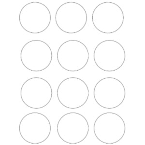 photo relating to Circle Template Printable titled Absolutely free Circle Template Printables - Circles By yourself Can Print