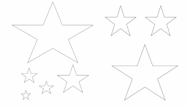 Five Point Star Template – Free Printable Stencil