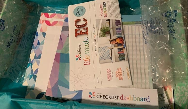 Erin Condren box opened