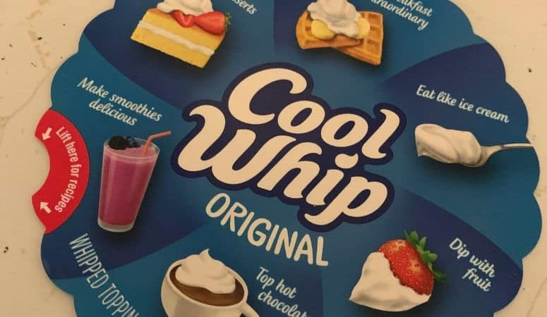 cool whip label