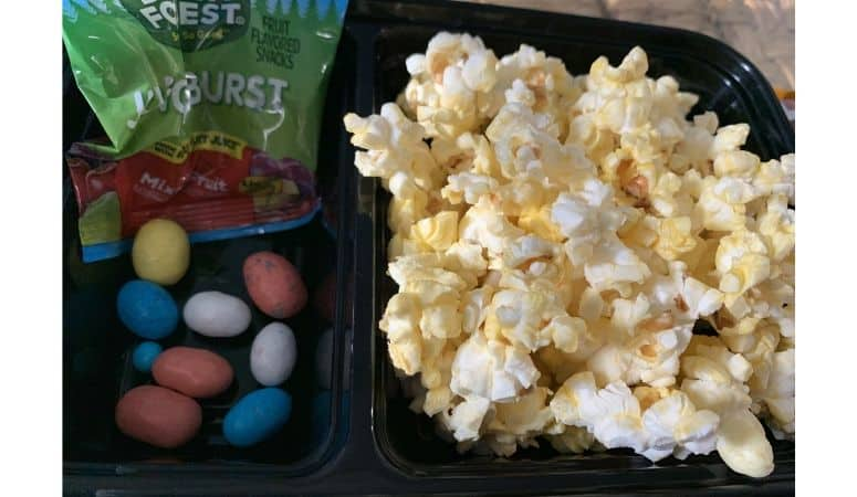 Kids movie snack pack made at home