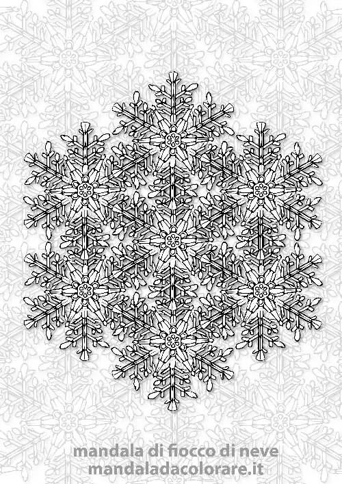 Mandala Da Colorare Dei Fiocchi Di Neve Mandala Da Coloraremandala