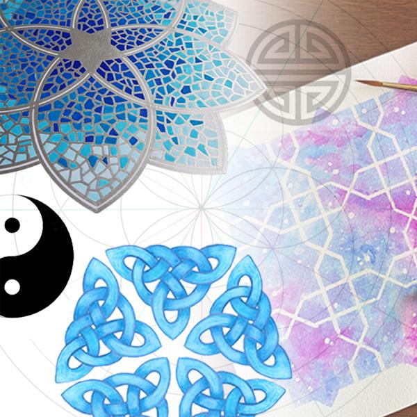 Monthly online geomeric art classes