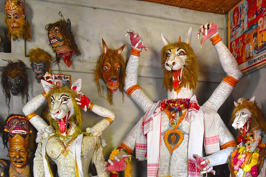 Traditional arts and carfts of India | masks of Majuli, Assam