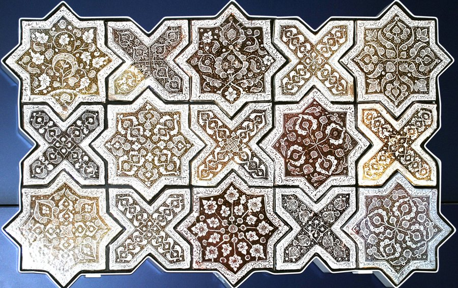 Arabic Geomteric Art | The Star abd Cross pattern also know as the Breathe of the Commpasionate One