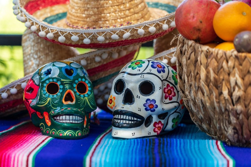 Day of the Dead decorrated skulls