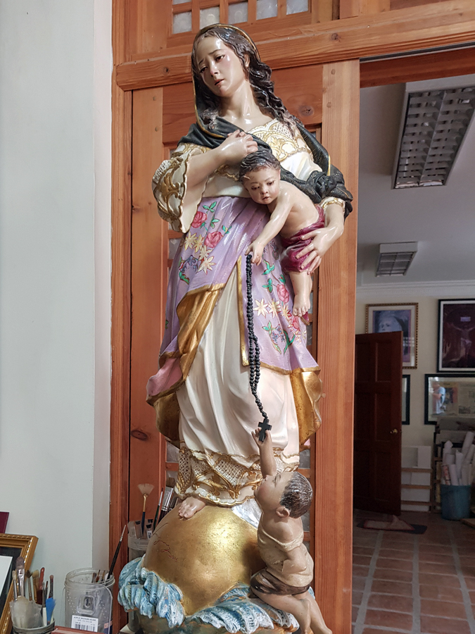 Finished wooden Santo statue _Philippines Art and Crafts