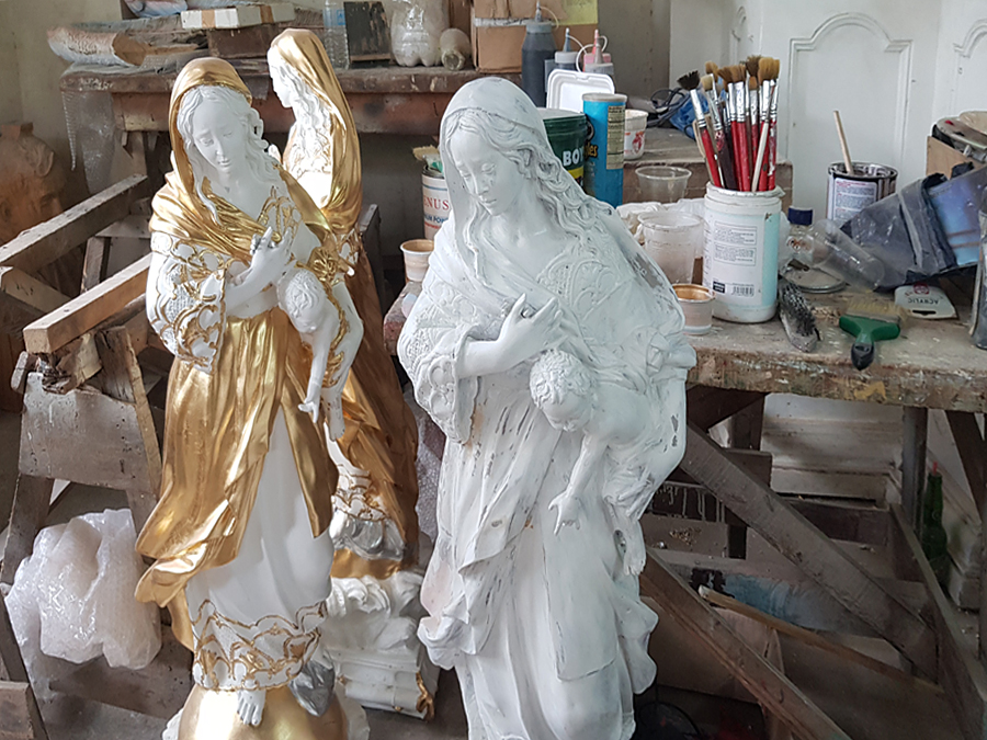 Religious statues in the Philippines