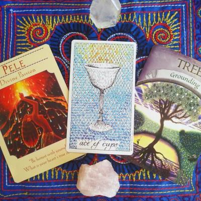 Ace of Cups Tarot Card & Oracle Cards || Mandala Soul Designs