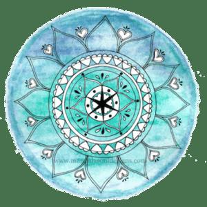 turquoise Moon Mandala - Mandala Soul Designs