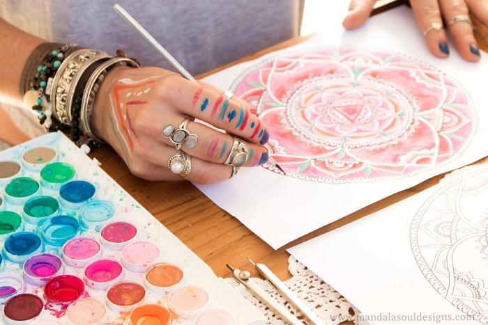 Mandala Art || Watercolours & Mandalas || Root Chakra