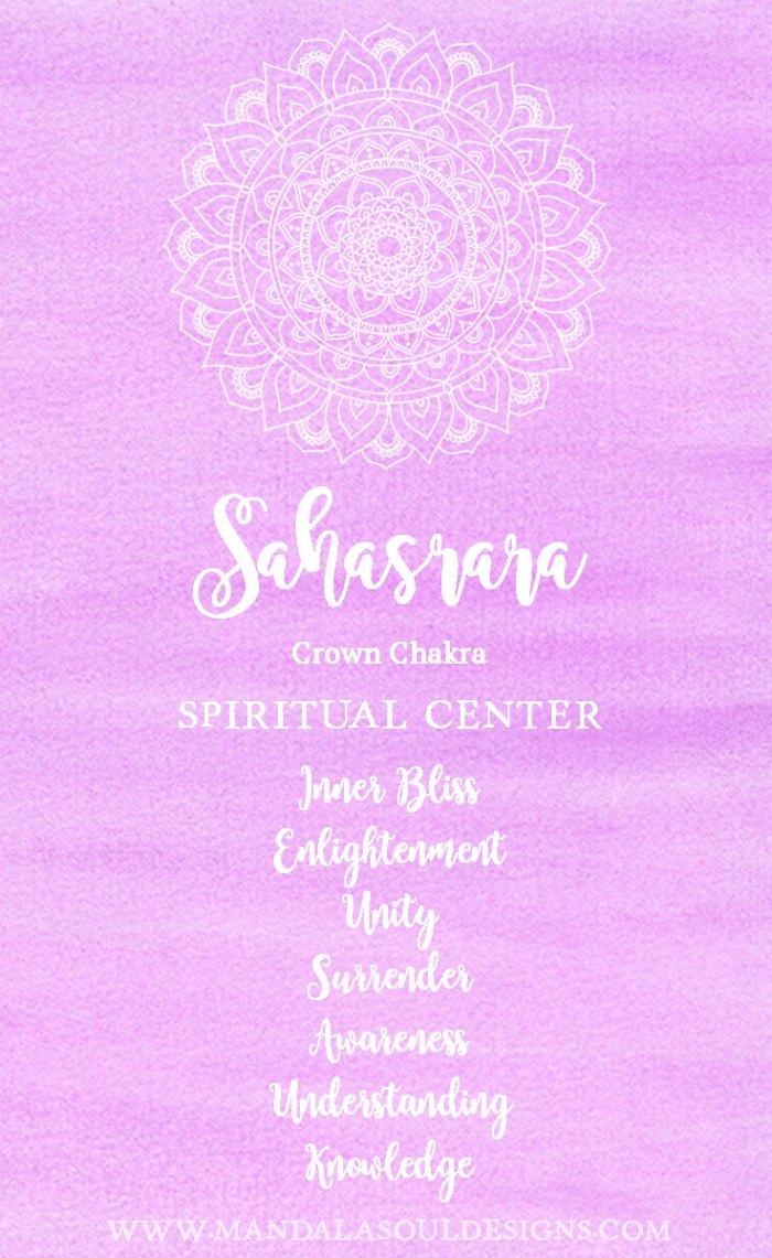 Crown Chakra - Sahasrara || Mandala Soul Designs