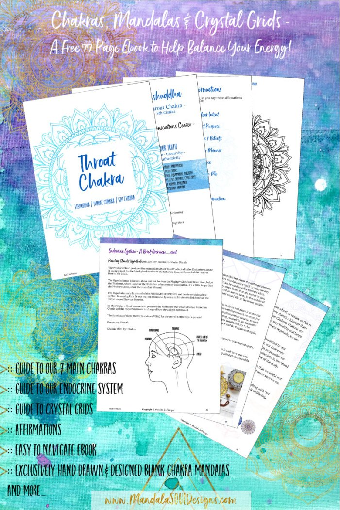 Free Chakras Mandalas & Crystal Grids Ebook || Mandala Soul DesignsUse this special ebook to gain a deeper connection to your body, your energy system and your intuition. Practice mindfulness and meditation, as you colour in the exclusively designed Chakra Mandalas!