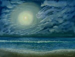 дракон и луна