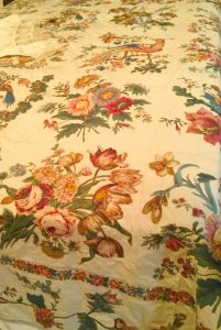 This broderie perse coverlet is from one of the local families on the island.  Apparently, there is another  by the same women at the Shelburne Museum in VT.