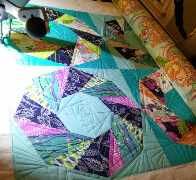 Like my mood lighting? I was quilting late at night.