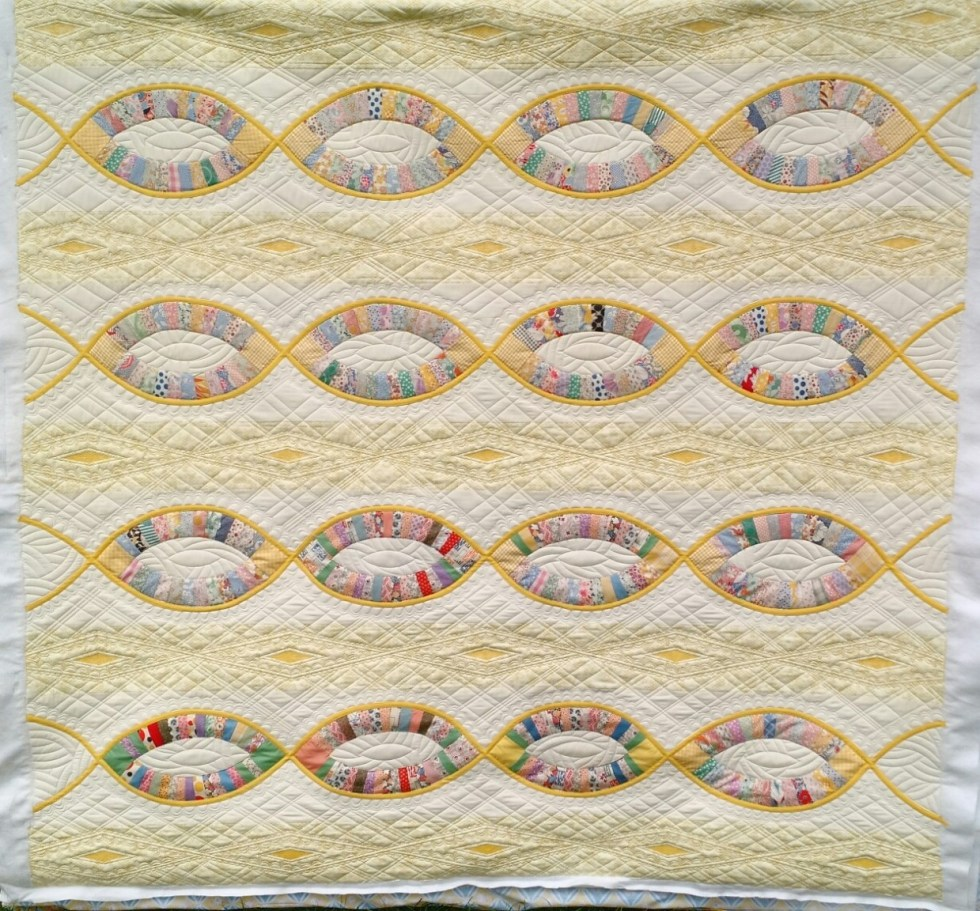 A Thousand Fibers Connect Us, By Victoria Findlay Wolfe, quilted by Mandy Leins, October 2015.
