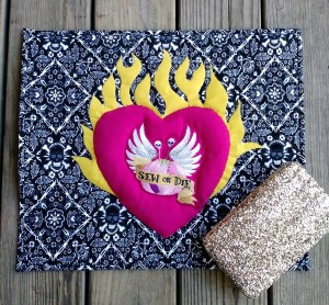 A wall hanging and... what's that glittery case? You'll have to wait and see in a later post!