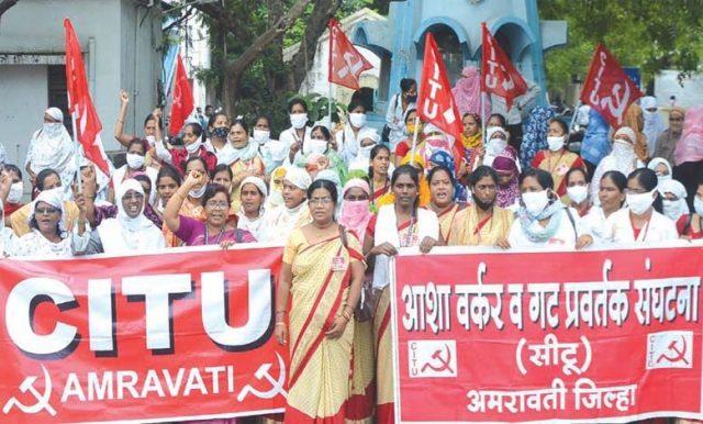 स्कीम वर्कर्स की अ.भा. हड़ताल में सभी योजना कर्मचारियों का सहभाग - Mandal  News