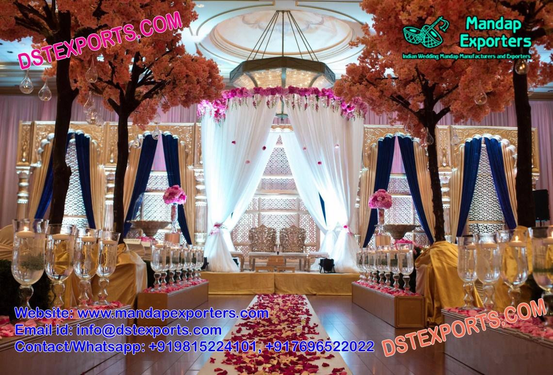 Famous Wedding Reception Stage Decoration - Mandap Exporters