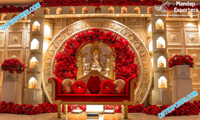 Grand Indian Wedding Stage Decor
