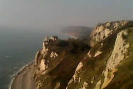 View from the top of the cliffs, looking toward Sidmouth
