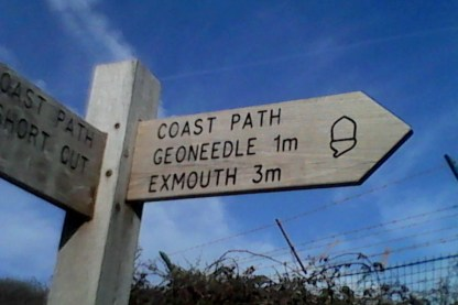 ".... Exmouth 3m again.... all the signs are ""as the crow flies"" aparently"