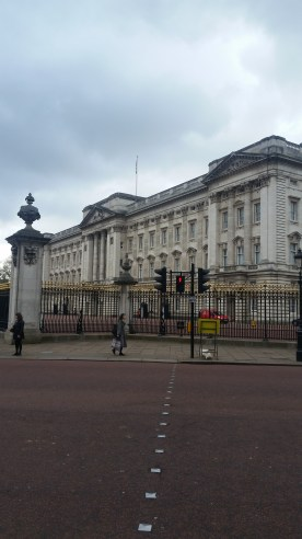 First view of Buckingham Palace!