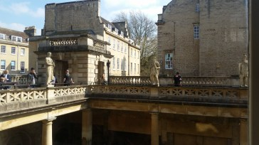 Roman Baths - the statues were added when place was reopened but in the Roman Style