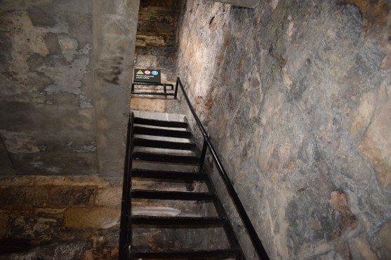 The original stairs had been replaced with these ladders