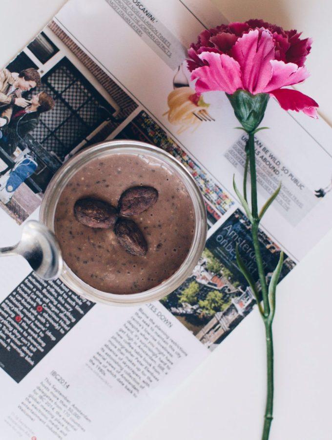 Cocoa & chia pudding